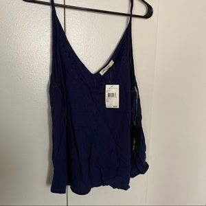 NWT - Navy Embroidered Tank - Nordstrom - size L
